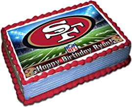 Groovy Best 49Ers Edible Cake Decorations Of 2020 Top Rated Reviewed Personalised Birthday Cards Paralily Jamesorg