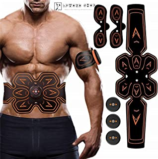 LPWORD Abs Stimulator Muscle Trainer/EMS Massager/Weight Loss Ultimate Electronic Power Abs Trainer para Hombres Mujeres Culturistas Entrenamiento Abdominal/de Brazos/piernas