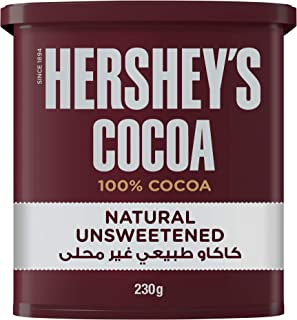 Hershey's Natural Unsweetened 100% Cocoa, 230 gm