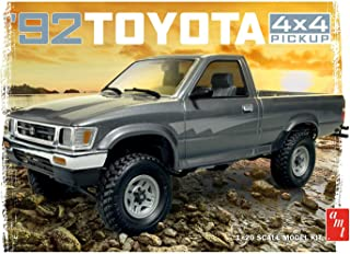 AMT AMT1082 1992 Toyota Pick-Up Model Kit, White, 1:20 Scale