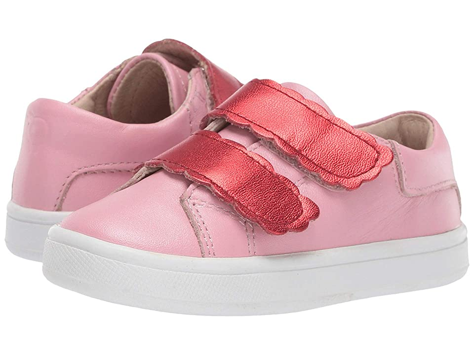 Old Soles Urban Curve (Toddler/Little Kid) (Pearlised Pink/Red Foil) Girl