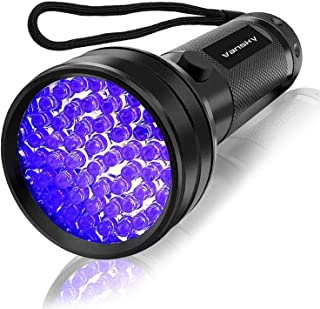 UV Flashlight Black light, Vansky 51 LED Blacklight Pet Urine Detector For Dog/Cat Urine,Dry Stains,Bed Bug, Matching with Pet Odor Eliminator
