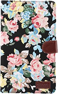 SHIHUI Phone Cases For Huawei MediaPad T3 8.0 inch Flower Pattern Cloth Surface Horizontal Flip Leather Protective Case with Holder & Card Slots & Wallet & Photo Frame (Color : Color1)