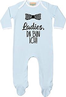 Kleckerliese Baby Kinder Schlafanzug Strampler Langarm Einteiler Motiv Ladies, da Bin ich
