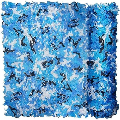 Ljdgr Filet Camo Visière Extérieure GR Filet de Camouflage Bleu océan Décoration de Prougeection Solaire 2M & Times; 3M Filet de Camping en Tissu Oxford (Taille  3x10m) Armée Camo Filet (Taille   2x8m)