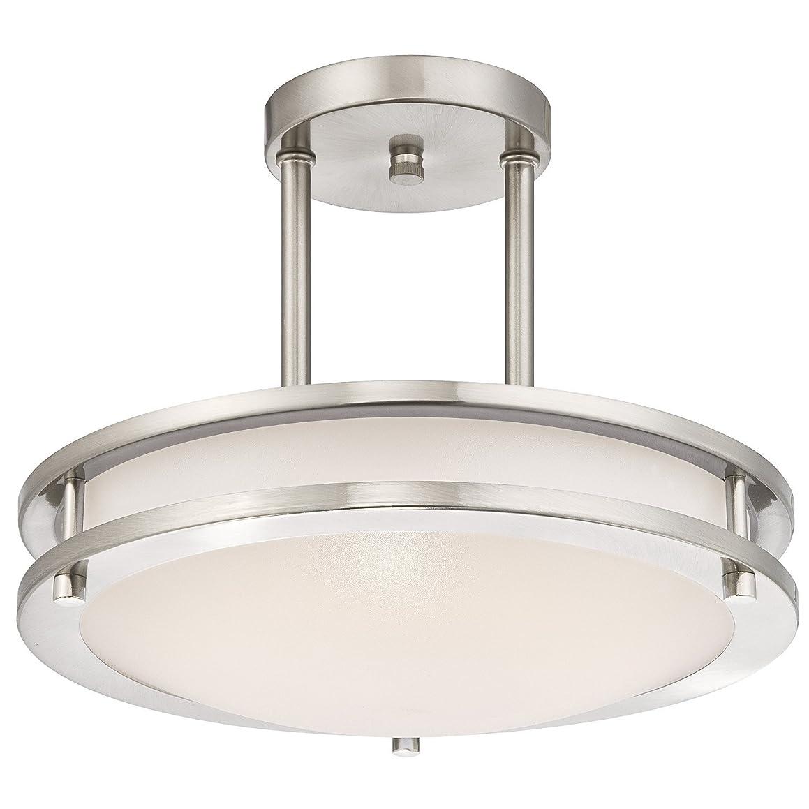 LB72130 LED Semi Flush Mount Ceiling Fixture, Antique Brushed Nickel Finish, 3000K Warm White, 1050 Lumens, Dimmable