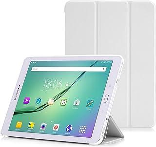 MoKo Samsung Galaxy Tab S2 9.7 Funda - Ultra Slim Lightweight Función de Soporte Protectora Plegable Smart Cover para Samsung Galaxy Tab S2 9.7 (SM-T815) Android 5.0 2015 Version, Blanco