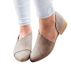 2810ad1e7ee Dellytop Womens Half D Orsay Slip-On Flats Pointed Toe Casual .