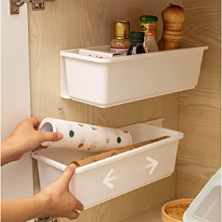 Wuudi Meuble coulissant pour rangement sous évier ou cuisine ,Etagere de Rangement sous Evier Rack 1 pièce