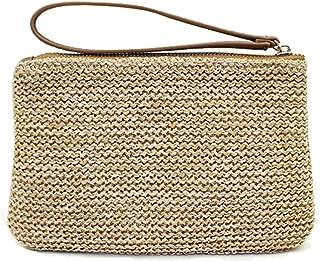 Women's Hand Wrist Type Straw Clutch Summer Beach Sea Handbag