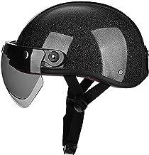 Brain-Cap motorhelm jethelm scooterhelm retro motorfiets halve helm met Zonneklep voor cruiser chopperbikers DOT/ECE goedg...