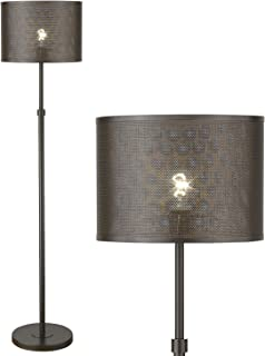 Industrial Metal Floor Lamp, LMS Bozeman Bronze Standing Lamp, 60