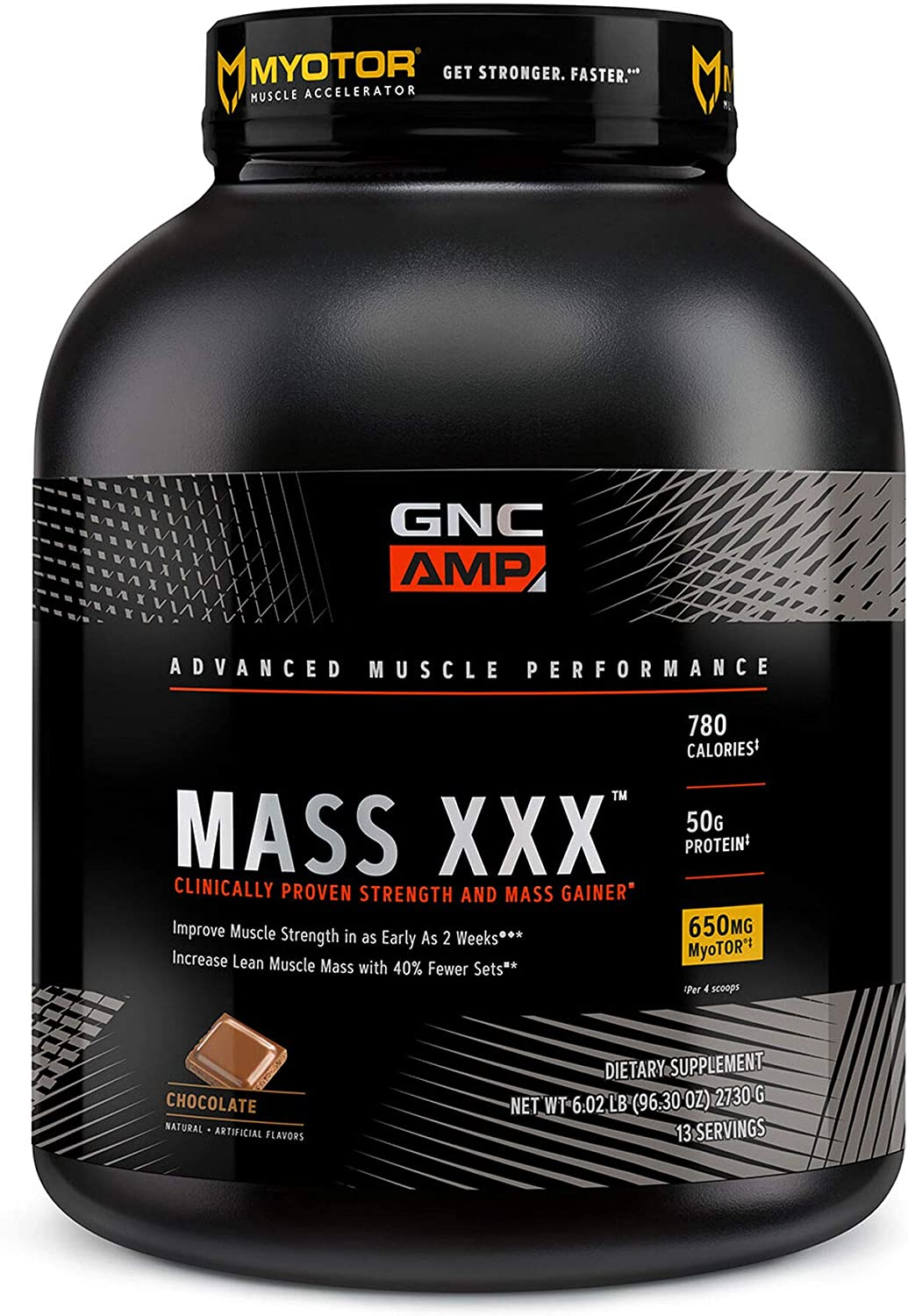 Shipping included GNC excellence AMP Mass XXX Chocolate with - MyoTor