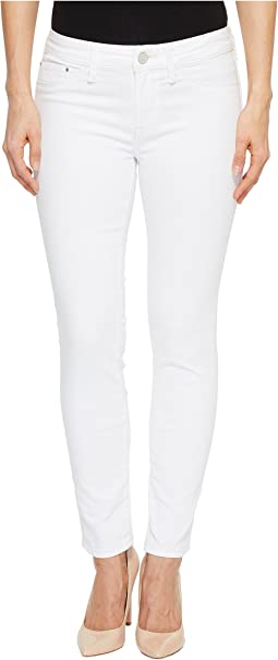 Adriana Mid-Rise Super Skinny Ankle in White Tribeca