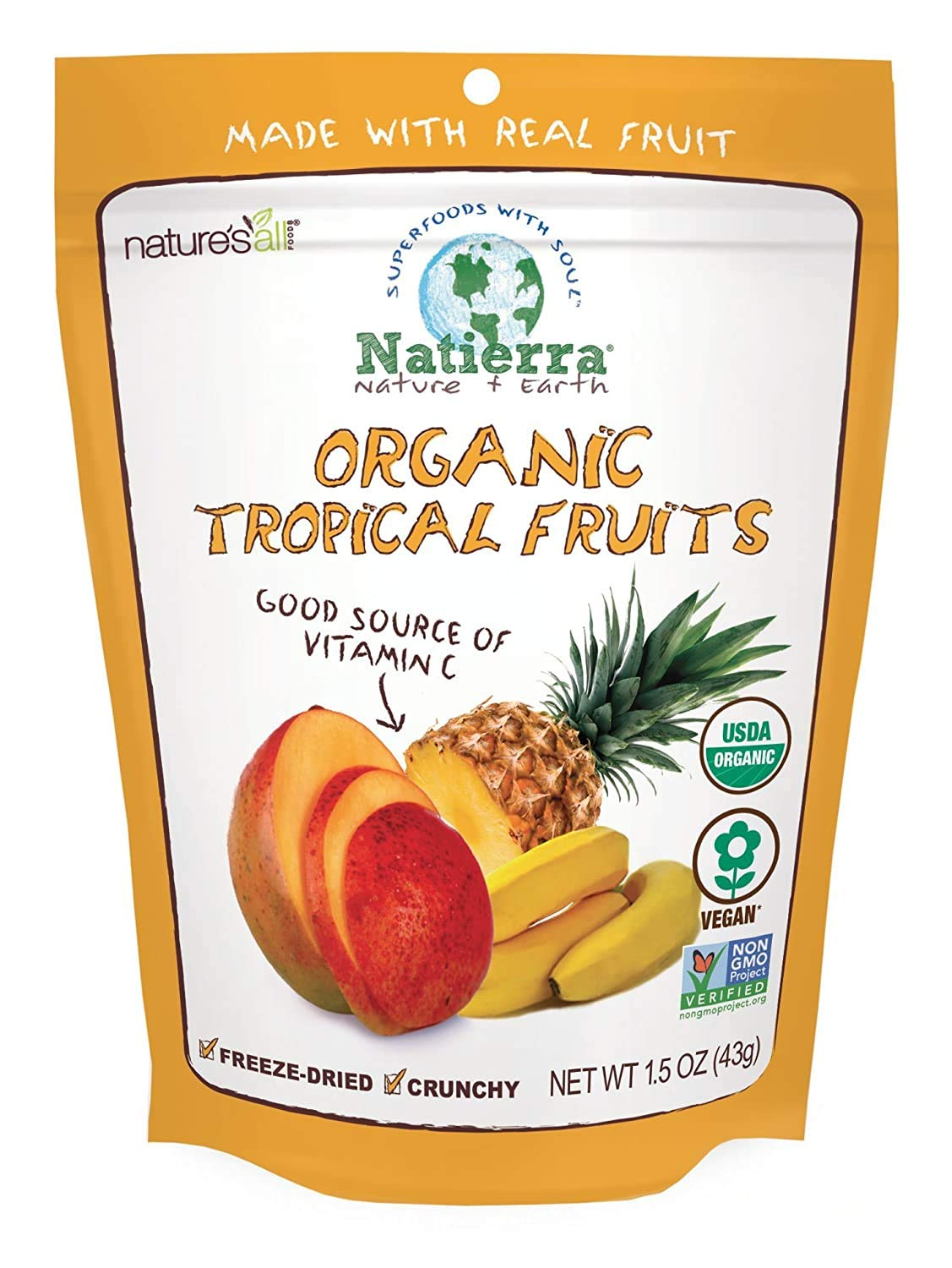 Max 68% OFF Natierra Nature's Max 42% OFF All Foods Freeze-Dried Organic Fruits Tropical
