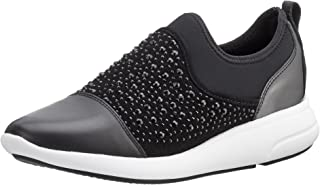 GEOX Womens Trainers D Ophira B Casual Slip on Shoes - Black