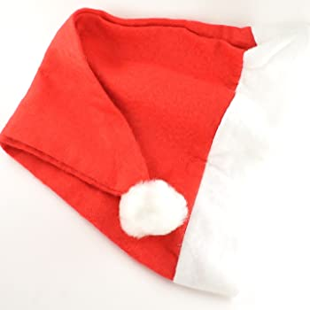 PACK OF 6 ELF HATS WITH EARS CHRISTMAS FANCY DRESS PARTY MULTIPACK BULK BUY
