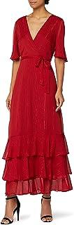 Marchio Amazon - Truth & Fable Vestito con Rouches all'Orlo Donna