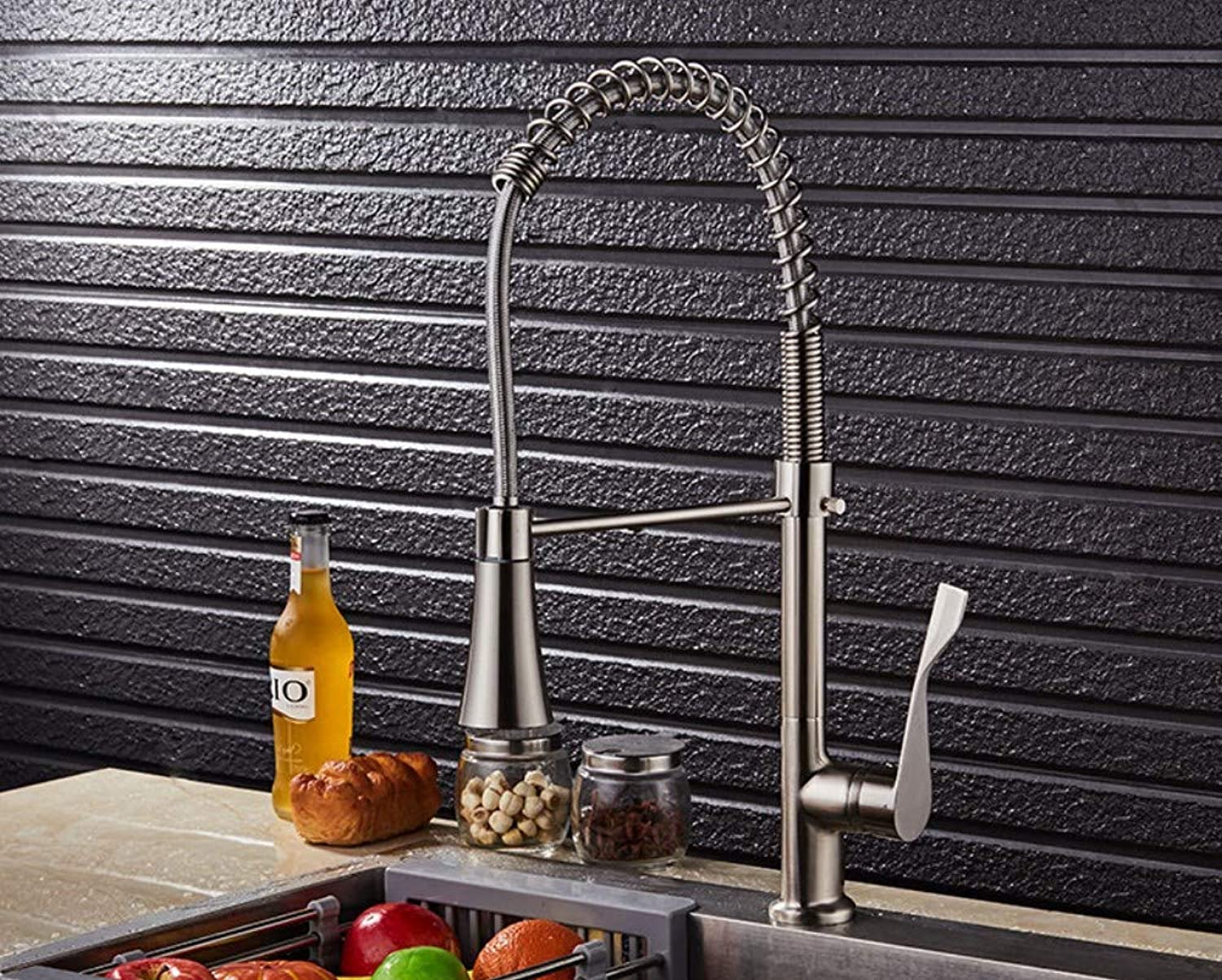 Bathroom Sink Basin Lever Mixer Tap redary Hot and Cold Water Faucet Kitchen Sink Faucet