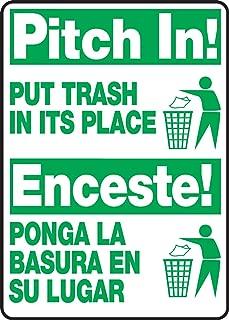 Accuform SBMHSK903VP Plastic Spanish Bilingual Sign, Legend