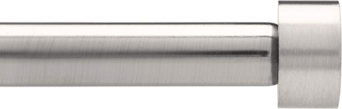 umbra Cappa 3/4-Inch Drapery Rod for Window, 36 to 72-Inch, Nickel