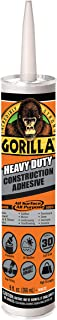 Gorilla Heavy Duty Construction Adhesive, 9 Ounce Cartridge, White