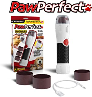 Pawperfect Bell + Howell Rechargeable Pet Nail Rotating File with 7000-14,000 RPM's for Dogs, Cats, and Other Small Animals As Seen On TV (Deluxe)