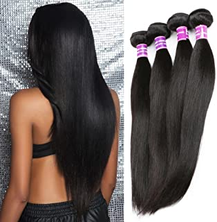 ZSF Hair Peruvian Virgin Hair Straight 3 Bundles 100% Human Hair Extension 14