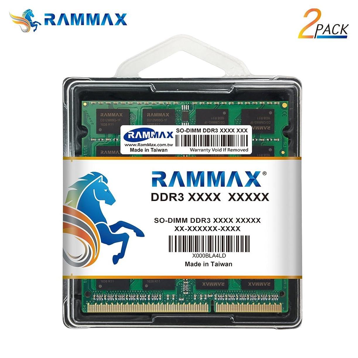 におい写真の即席RamMax 8GBメモリ 2枚組 DDR3 1600 PC12800 RM-SD1600-D16GB DUAL 204pin DDR3-SO-DIMM ノート パソコン用 増設メモリ 16GB デュアル