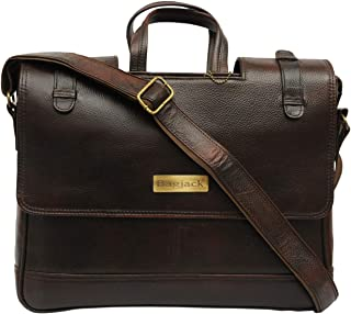 BAG JACK - Natural Grain Leather | Handcrafted | Velorum | Adds A Professional Finish | Leather Office Bag for Men | Lapto...