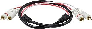 Legrand - On-Q AC2203-BK Universal 2 L/R Audio Cable, 3', Black