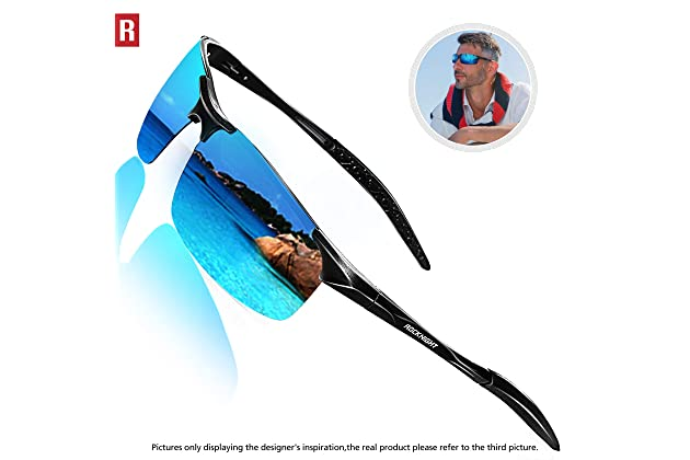 6aedfbc243 ROCKNIGHT Driving Polarized Sunglasses for Men UV Protection Ultra  Lightweight Al Mg Golf Fishing Sports Sunglasses