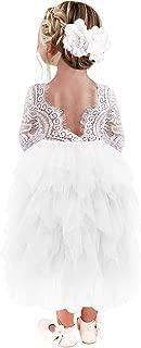 toddler ivory lace flower girl dresses