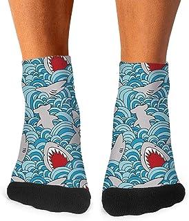 Men Marine Life Whale Shark Socks Skirt Crew Tube Cotton Socks