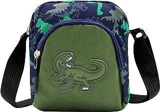 ZGMYC Kids Boys Cartoon Dinosaur Crossbody Bag Canvas Small Chest Sling Bag with Adjustable Strap