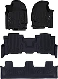 MAXLINER Floor Mats 3 Row Liner Set Black for 2018-2019 Ford Expedition/Expedition Max with 2nd Row Bench Seat
