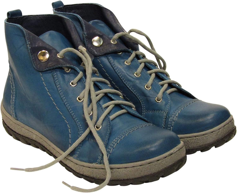 V Italia 1041 Women's Light bluee Mano Casual Leather European Trainers