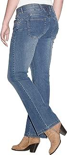 Women's Plus Size Back Elastic Bootcut Jeans