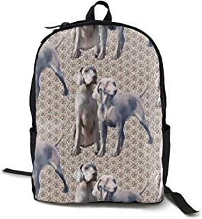Mochilas de marcha,Mochilas tipo casual,Casual Backpck Large Capacity Multipurpose Anti-Theft Carry-On Bag Backpack for Hiking Outdoors Running - Dog Weimaraners Boys Girls Student Gift Travel Daypac