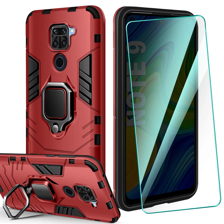 AROYI Carcasa Xiaomi Redmi Note 9 Funda Silicona & Protector Pantalla Cristal Templado, Suave Armadura híbrida Robusta Bumper Case Anti-arañazos Caja para Funda Xiaomi Redmi Note 9 Smartphone: Amazon.es: Electrónica