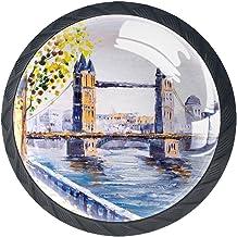 Lade handgrepen Pull voor huis keuken dressoir garderobe,Olieverfschilderij Street View of London