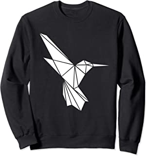 geometric hummingbird sweatshirt