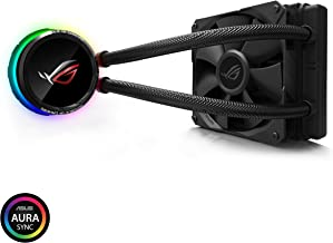 Asus ROG RYUO 120 RGB AIO Liquid CPU Cooler 120mm Radiator (120mm 4-Pin PWM Fan) with Livedash OLED Panel and Fanxpert CON...