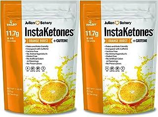 Julian Bakery InstaKetones® 11.7g GoBHB® Per Scoop +Organic Caffeine (Orange Burst) (2 Pack) (+Caffeine) (60 Servings) Exo...