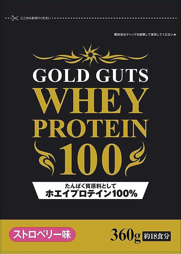 ダム邪魔する飛ぶGOLD GUTS ゴールドガッツホエイプロテイン100% ストロベリー味 360g