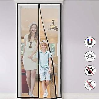 FORMIZON Cortina Mosquitera Magnética para Puertas, Anti Insectos Moscas y Mosquitos con Cinta de Botón de Nylon Adhesiva, Sala de Estar, Balcón, Puerta, Fácil de Montar sin Taladrar (120 * 250cm)