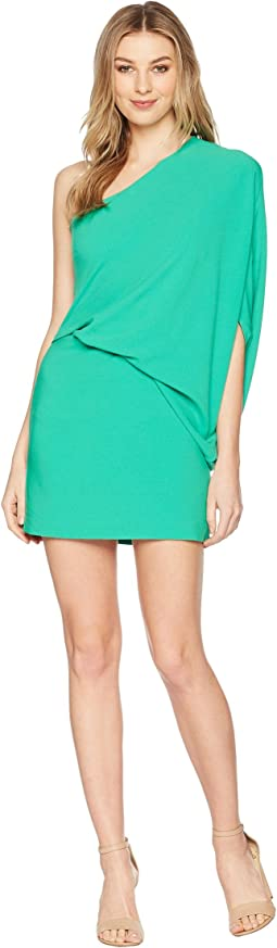 Halston Heritage - One Shoulder Asymmetrical Sleeve Dress