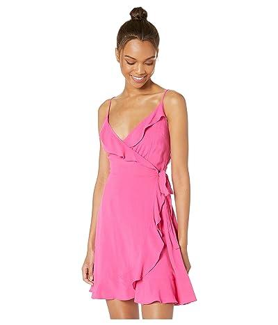 Cupcakes and Cashmere Catana Ruffle Wrap Dress (Azalea Pink) Women