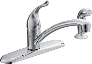 Moen 67430 Chateau Single Handle Kitchen Faucet with Protege Side Spray, Chrome