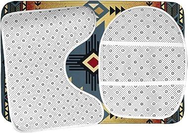 Vbcdgfg Bathroom Rugs Sets 3 Piece Tribal Indian Geometric Southwest Native American Bathroom Rugs Mats Set 3 Pieces Bath Rug